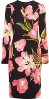 Dolce & Gabbana Printed Crepe Dress - Pink