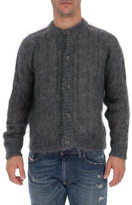 Prada Crewneck Knitted Cardigan