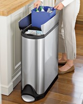 Simplehuman simplehumanTM Fingerprint-Proof Butterfly Trash/Recycler