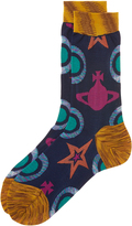 Vivienne Westwood Blue Star and Orb Socks One Size