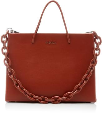 Medea Hanna Chain-Detailed Leather Top-Handle Bag