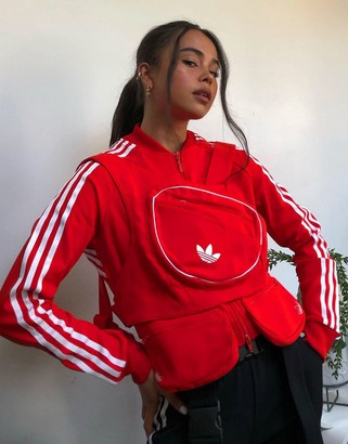 adidas Ji Won Choi x Olivia track top with removable front pocket in red