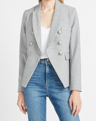 Express Double Breasted Novelty Button Blazer