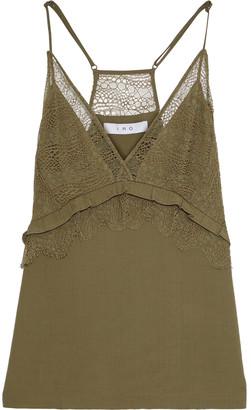 IRO Tenesse Lace-paneled Crepe Camisole