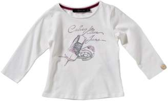 Calvin Klein Jeans Baby Girls' Sweatshirt Regular Fit All Over Print CGP24AJP508 - White