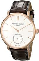 Frederique Constant Men's FC710V4S4 Slim Line Analog Display Swiss Automatic Brown Watch