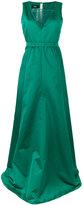 Rochas tulle insert gown - women - Silk/Polyamide/Polyester - 42