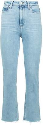 Paige Cindy Split-Hem Slim Jeans
