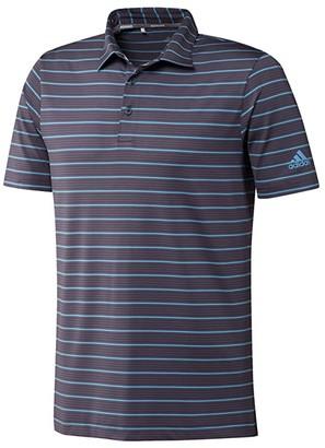 adidas Ultimate365 Pencil Stripe Polo Shirt (Power Pink/Pink Tint/Black) Men's Clothing