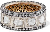 Amrapali 14-karat Gold And Sterling Silver Diamond Ring