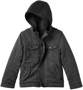 Urban Republic Boys 4-7 Hooded Sherpa-Lined Peached Twill Midweight Jacket