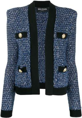Balmain tweed double-breasted jacket