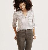 LOFT Lou & Grey Check Splitneck Shirt