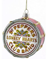 Kurt Adler The Beatles Pepper Drum Glass Ornament