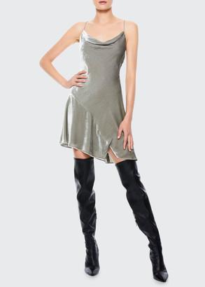 Alice + Olivia Carmelina Asymmetric Slip Dress