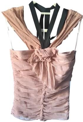 Alberta Ferretti Beige Cotton Top for Women Vintage