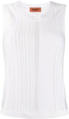 Missoni Fine Knit Sheer Panelled Vest