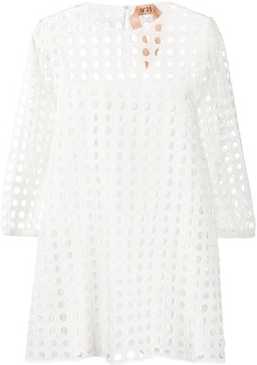 No.21 Cutout Details Short Dress
