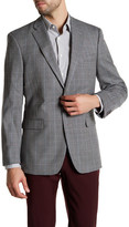 Tommy Hilfiger Multi-Gray Checkered Two Button Notch Lapel Jacket