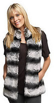 Rachel Zoe Luxe Faux Fur Vest with Hook and Eye Closure