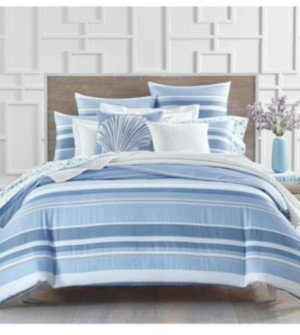 Charter Club Damask Designs Coastal Stripe 300-Thread Count Queen Comforter Set, Created for Macy's Bedding