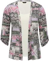 M&Co Two in one printed cardigan top