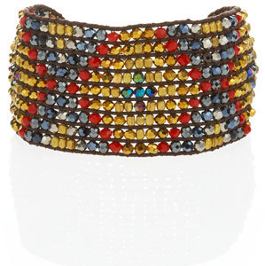 Nakamol Beaded Tribal Cuff, Red/Blue (CUSP Top Seller!)