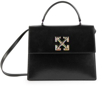 Off-White Jitney 2.8 Twist Leather Top Handle Bag