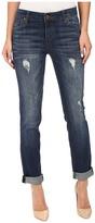 KUT from the Kloth Catherine Boyfriend Jeans in Allowing w/ Dark Stone Base Wash