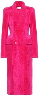 Balenciaga Hourglass shearling coat