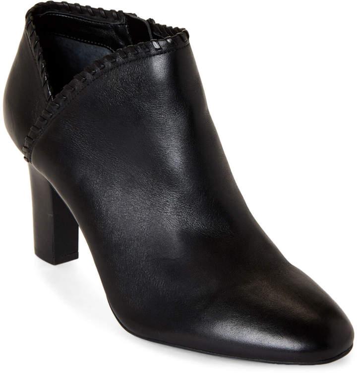 Lauren Ralph Lauren Black Bryna Leather Ankle Booties