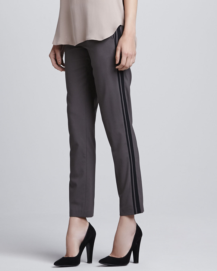 Vince Relaxed Side-Stripe Trousers