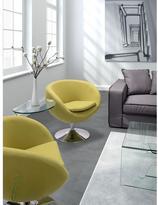 ZUO Lund Iron Polyfiber Arm Chair in Gray