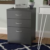 Jodi 3 Drawer Mobile Filing Cabinet Symple Stuff Color: Black