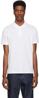 BOSS White Pique Logo Polo