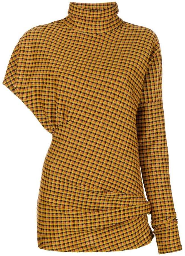 Calvin Klein checked turtle neck blouse
