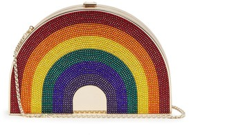 Judith Leiber Rainbow box clutch