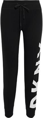 DKNY Printed Cotton-blend Fleece Track Pants