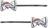 Aminco Denver Broncos Bow-Logo Bobby Pin - Set of Two