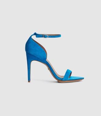 Reiss PAULA SUEDE STRAPPY SANDALS Cobalt Blue