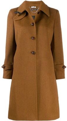 Miu Miu bow detail midi coat