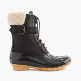 Sperry Women's for J.Crew Shearwater buckle boots in black