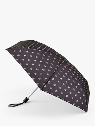 Fulton Sidney Squirrel Print Telescope Umbrella, Black/Multi