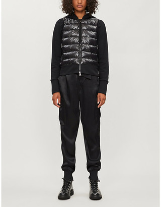 Moncler Quilted cotton-blend and shell hoody