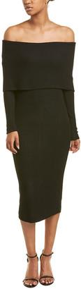 Three Dots Off-Shoulder Rib Midi Dress