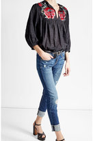 True Religion Embroidered Cotton Blouse