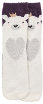 John Lewis Children's Polar Bear Slipper Socks, Multi