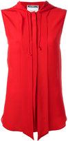 Moschino sleeveless hooded shirt - women - Silk - 42