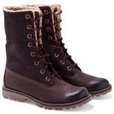 Timberland Dark Brown Shearling Boots