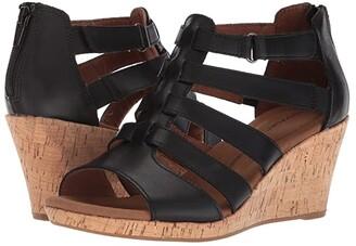 Rockport Briah Gladiator (Black Leather) Women's Shoes